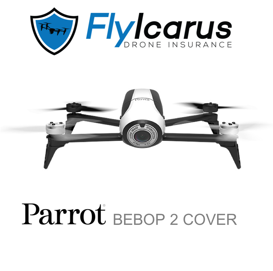 Parrot Bebop 2 Hobby Drone Insurance - Annual Cover - FlyIcarus Drone Insurance