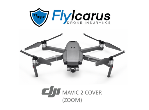 DJI Mavic 2 Zoom Hobby Drone Insurance - Annual Cover - FlyIcarus Drone Insurance