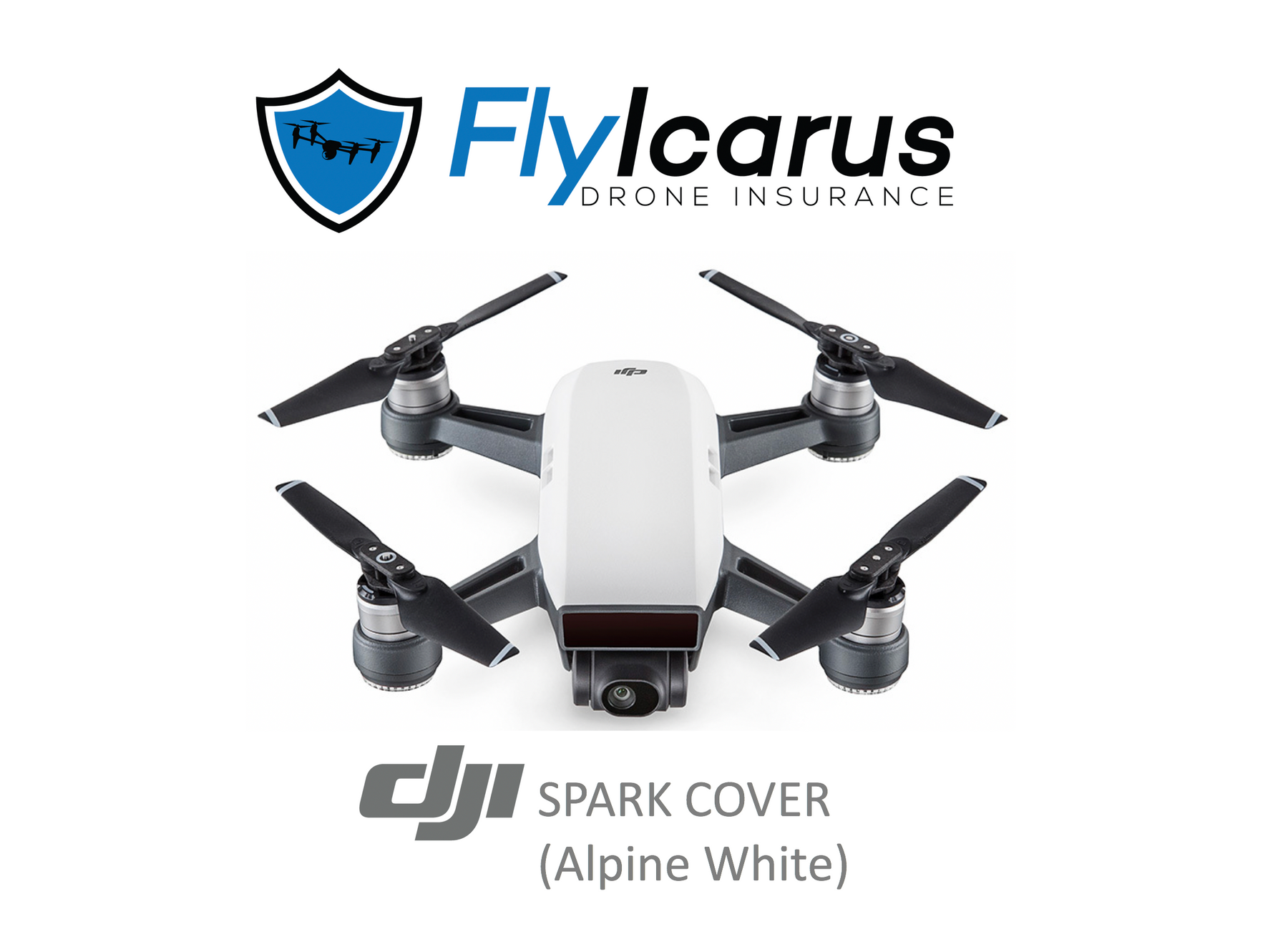 DJI Spark (Alpine White) Hobby Drone Insurance - Annual Cover - FlyIcarus Drone Insurance
