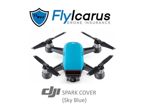 DJI Spark (Sky Blue) Hobby Drone Insurance - Annual Cover - FlyIcarus Drone Insurance