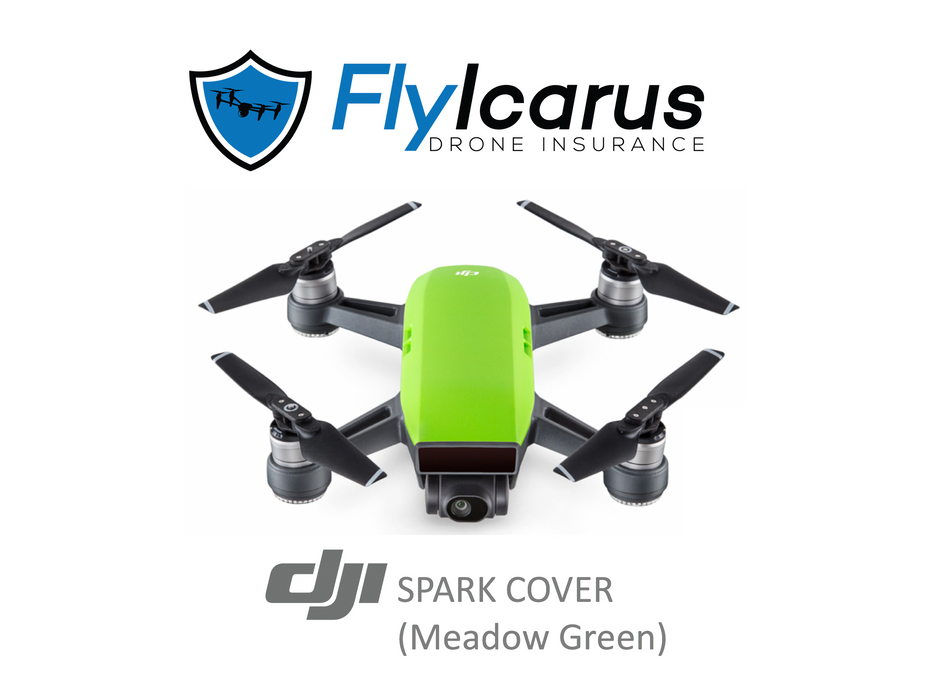 DJI Spark (Meadow Green) Hobby Drone Insurance - Annual Cover - FlyIcarus Drone Insurance