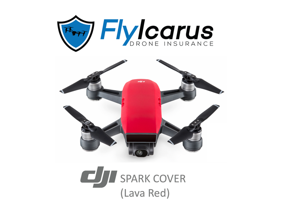 DJI Spark (Lava Red) Hobby Drone Insurance - Annual Cover - FlyIcarus Drone Insurance
