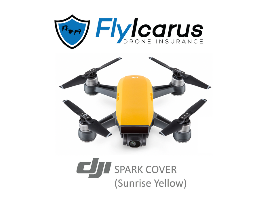 DJI Spark (Sunrise Yellow) Hobby Drone Insurance - Annual Cover - FlyIcarus Drone Insurance