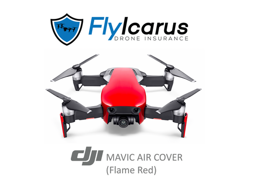 DJI Mavic Air (Flame Red) Hobby Drone Insurance - Annual Cover - FlyIcarus Drone Insurance
