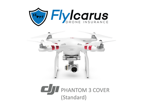 DJI Phantom 3 Standard Hobby Drone Insurance - Annual Cover - FlyIcarus Drone Insurance