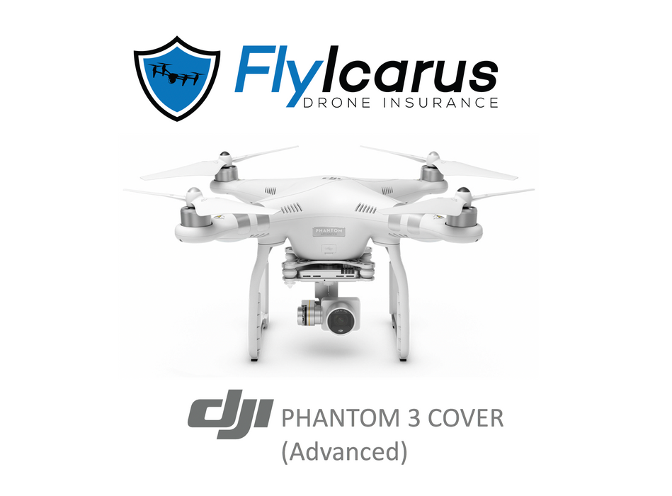 DJI Phantom 3 Advanced Hobby Drone Insurance - Annual Cover - FlyIcarus Drone Insurance