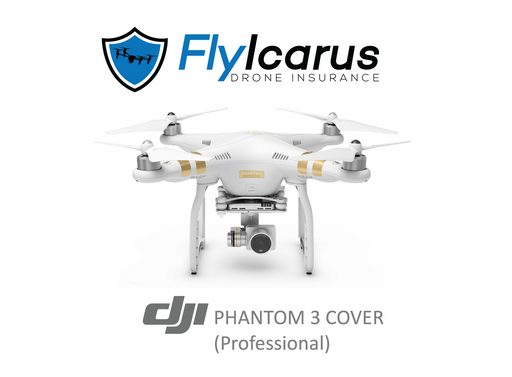 DJI Phantom 3 Professional Hobby Drone Insurance - Annual Cover - FlyIcarus Drone Insurance
