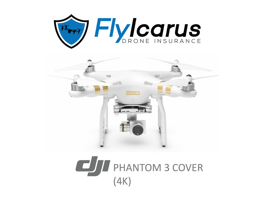 DJI Phantom 3 4K Hobby Drone Insurance - Annual Cover - FlyIcarus Drone Insurance