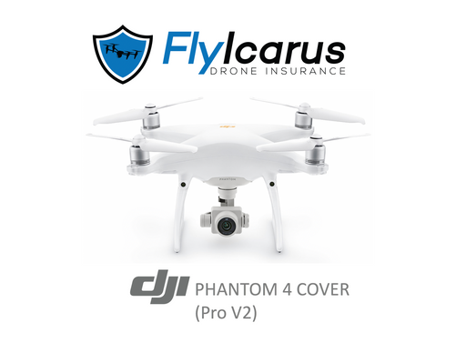 DJI Phantom 4 Pro V.2 Hobby Drone Insurance - Annual Cover - FlyIcarus Drone Insurance