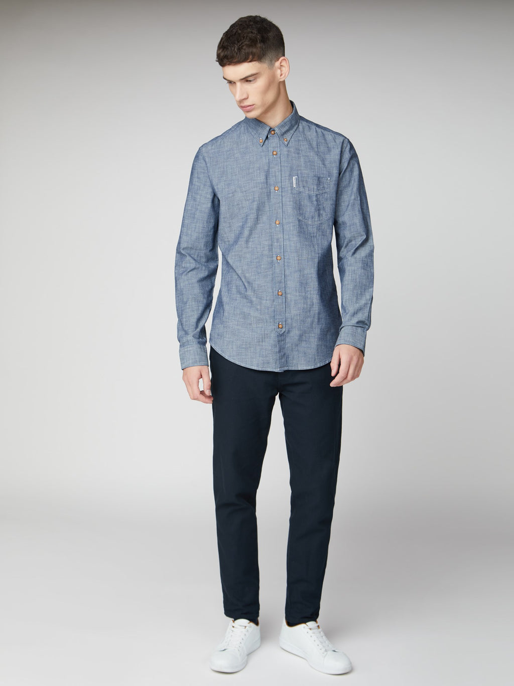 Chambray Shirt L/S Button Up