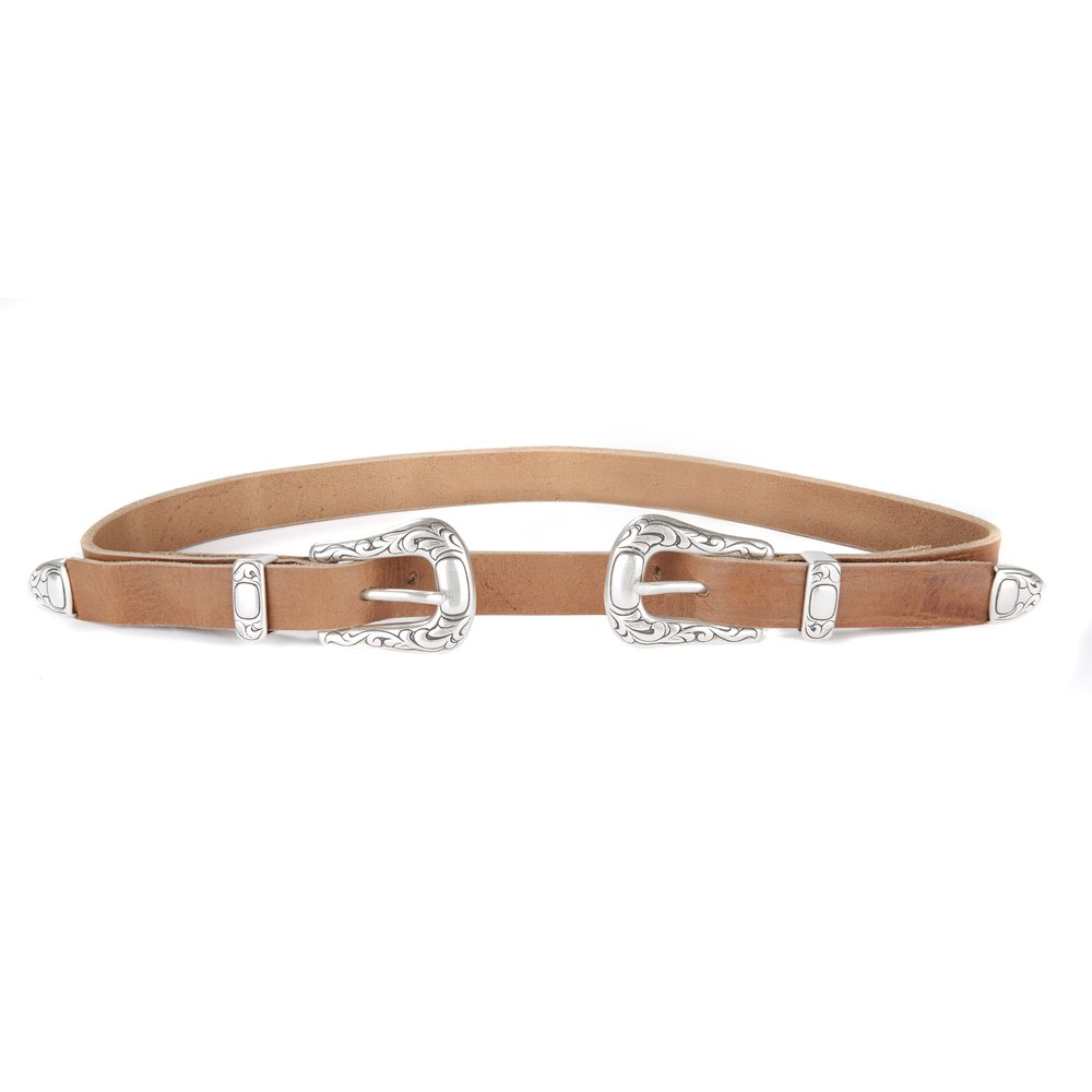 Jobeth Double Buckle Leather Belt