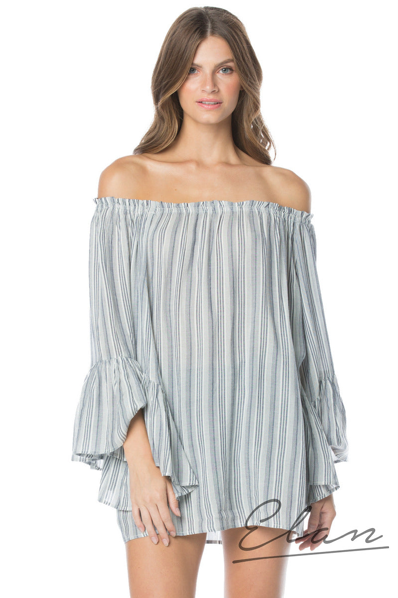Top Tunic Bell Slv Off Shoulder