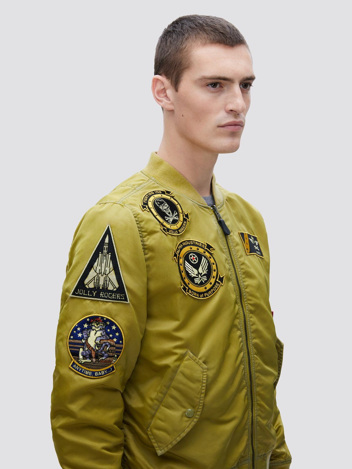 L-2B Fear The Bones Battlewash Flight Jacket
