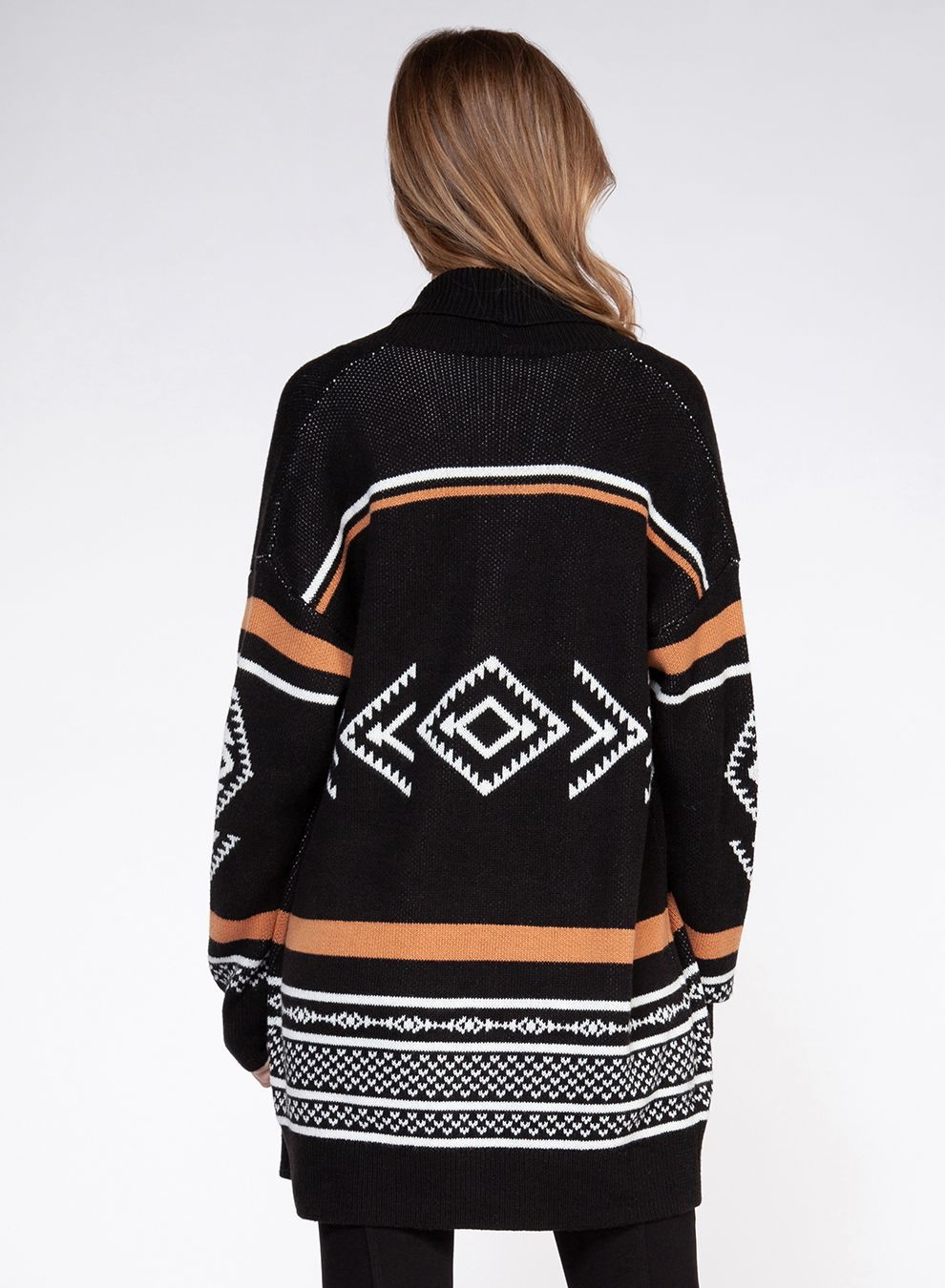 Tribal sweater cardigan