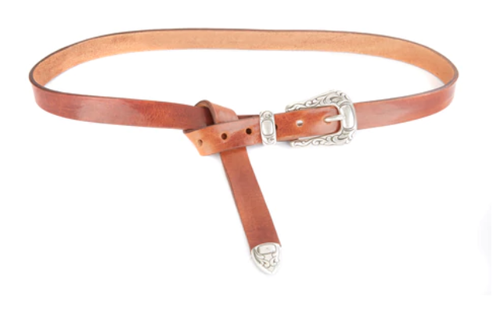 Hiro Leather Skinny Belt