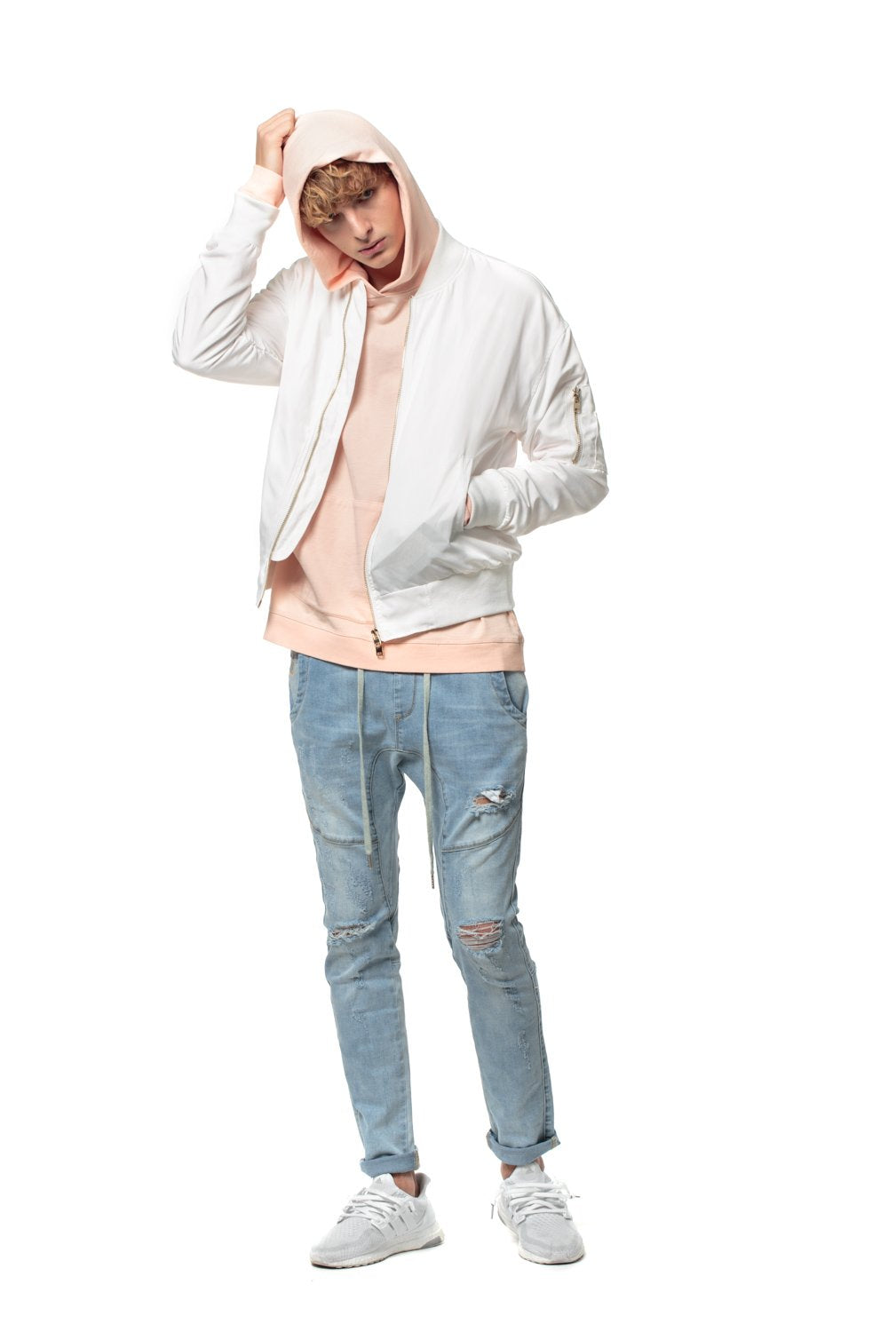Open Leg Denim Jogger