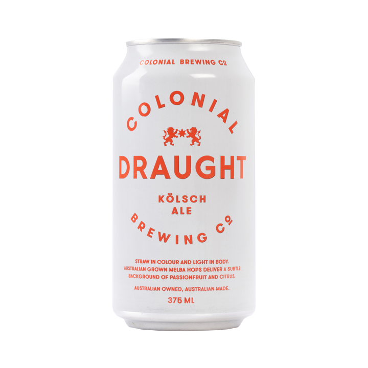 Colonial Brewing Co - Draught Kolsh Ale 4.8% 375ml Can