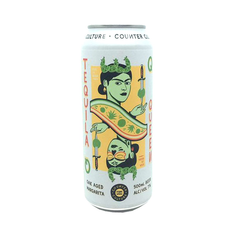 Stone & Wood Brewing Co - Counter Culture Tequilla Queen Oak Aged Margarita Sour 7% 500ml Can