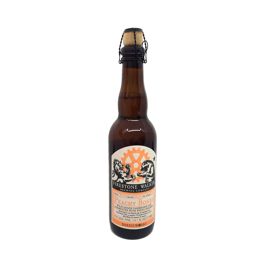 Firestone Walker Brewing - Peachy Bones Wild Saison  6.1% 375ml Bottle