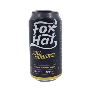Fox Hat Brewing - Full Mongrel Russian Imperial Stout 10% 375ml Can
