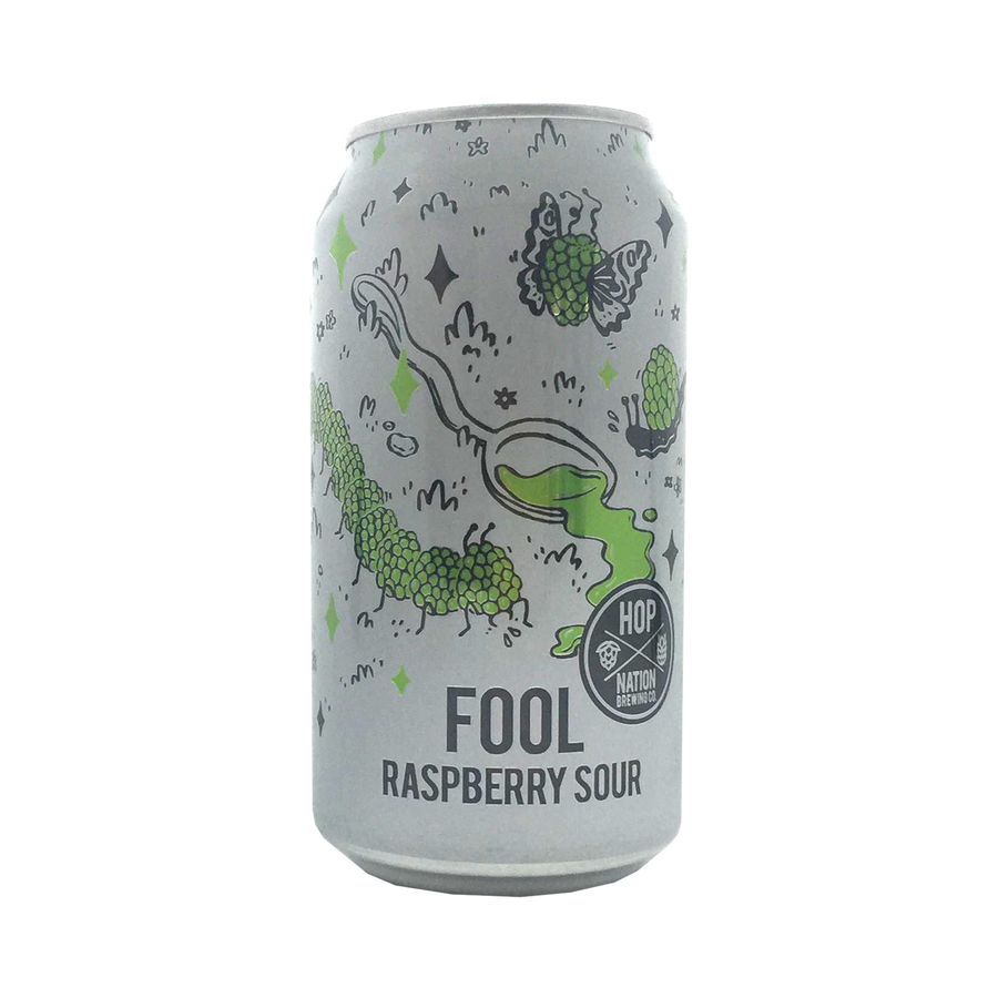 Hop Nation Brewing Co - Fool Raspberry Sour 5% 375ml Can