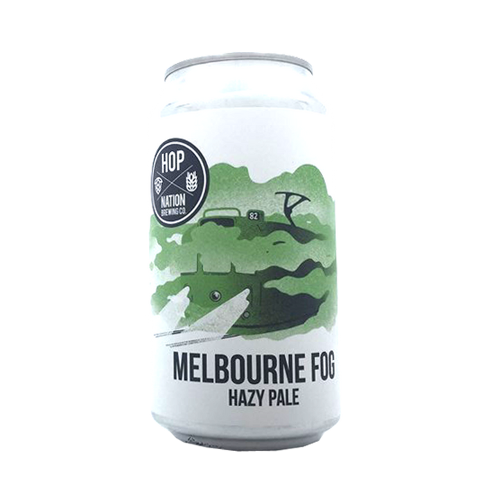 Hop Nation Brewing Co - Melbourne Fog Hazy Pale Ale 4.8% 375ml Can