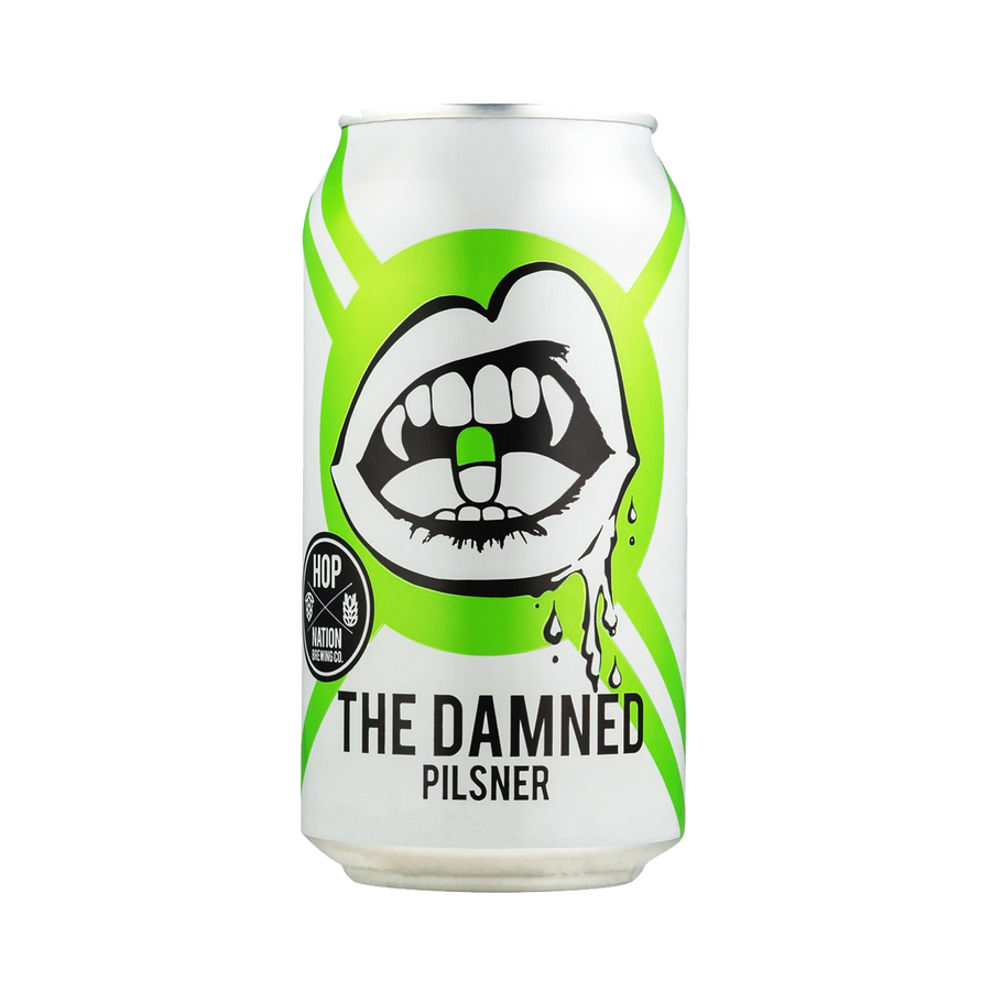 Hop Nation Brewing Co - The Damned Pilsner 4.8 % 375ml Can