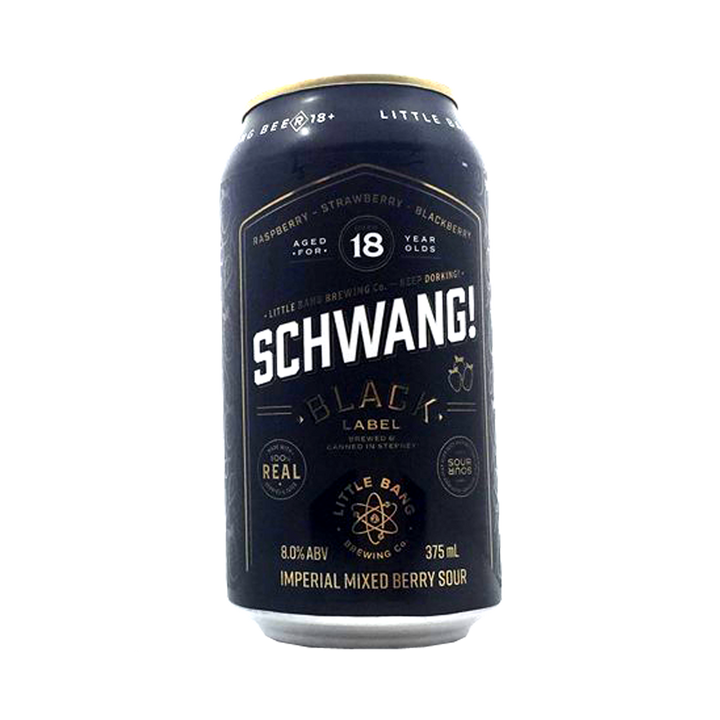 Little Bang Brewing Co - Schwang Black Label Imperial Mixed Berry Sour 8% 375ml Can