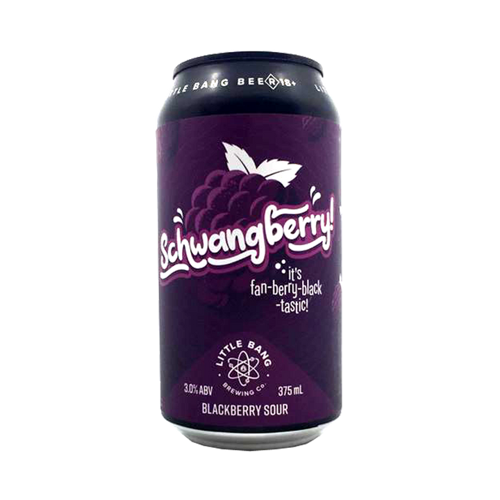 Little Bang Brewing Co - Schwangberry Blackberry Sour 3% 375ml Can