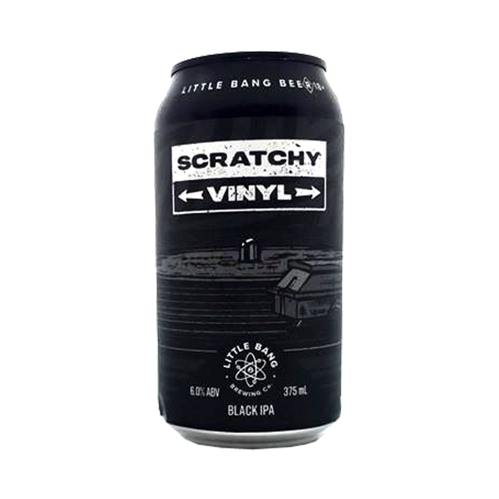 Little Bang Brewing Co - Scratchy Vinyl Black IPA 6% 375ml Can