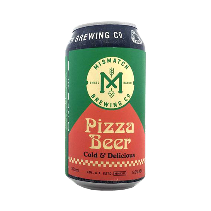 Mismatch Brewing Co - Pizza Beer Lager 5% 375ml Can