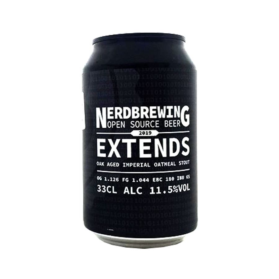 Nerdbrewing - 2019 Extends Oak Aged Imperial Oatmeal Stout 11.5% 330ml Can