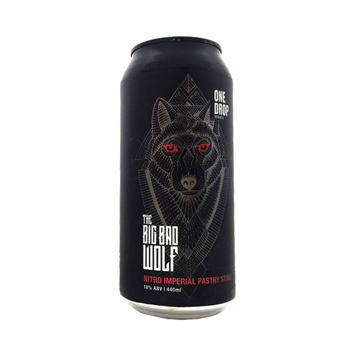 One Drop Brewing Co - The Big Bad Wolf Nitro Imperial Pastry Stout 10% 440ml Can