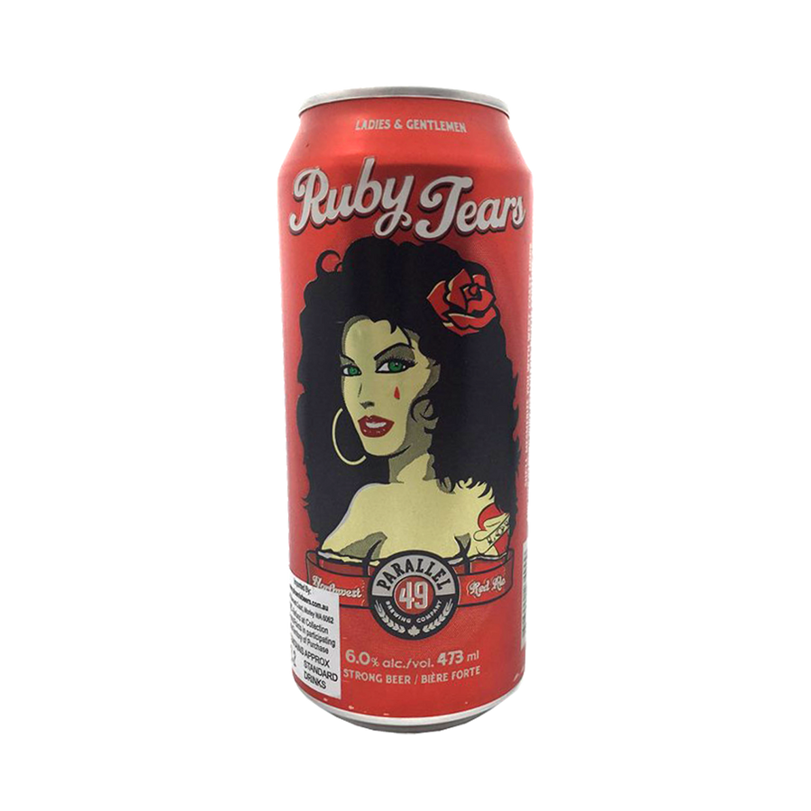 Parallel 49 Brewing Co - Ruby Tears Northwest Red Ale 6% 473ml Can
