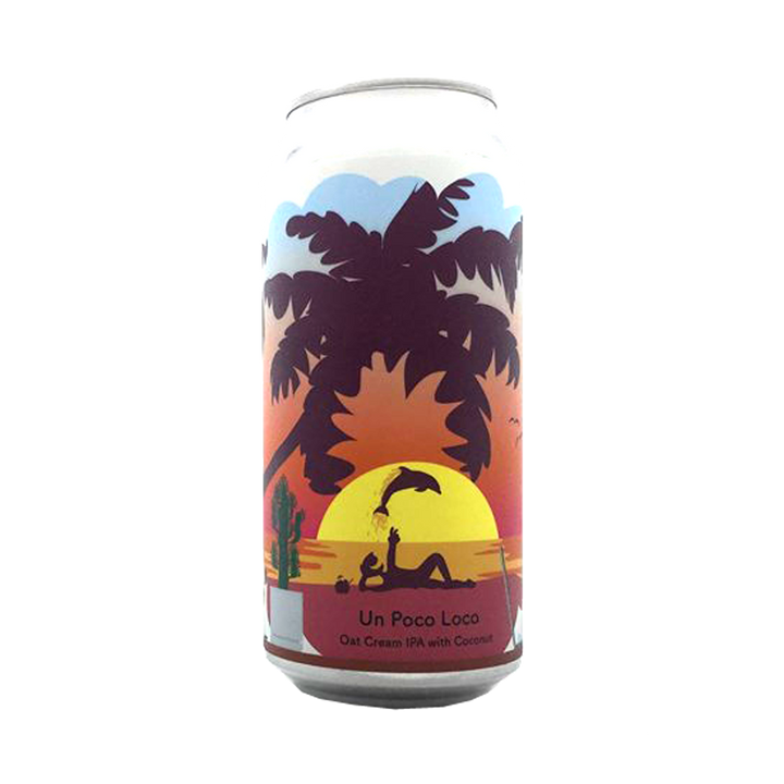 Tallboy and Moose Make Beer - Un Poco Loco Oat Cream IPA  with Coconut 6.5% 440ml Can