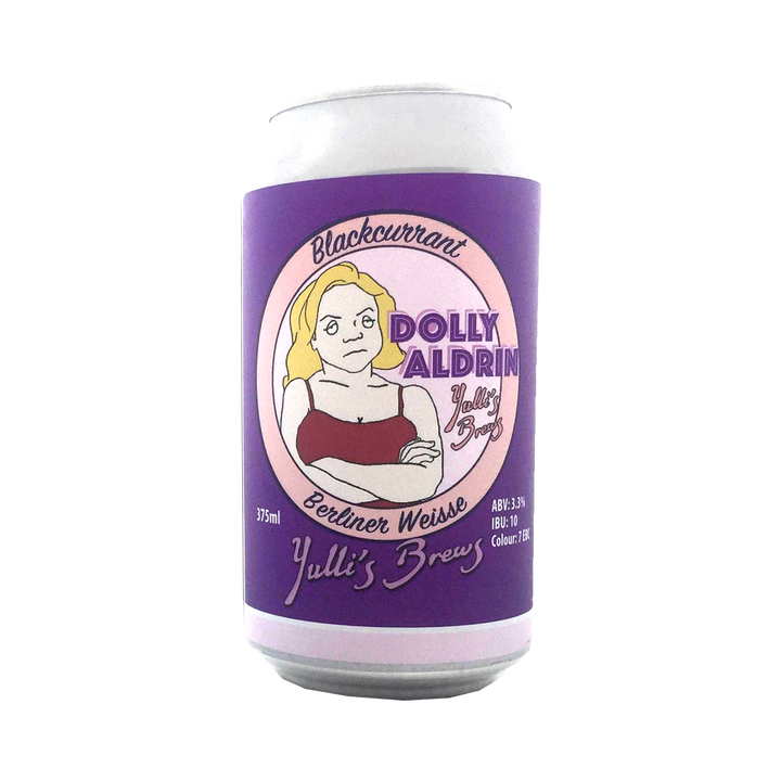 Yulli's Brews - Dolly Aldrin Blackcurrant Berliner Weisse 3.3% 375ml Can