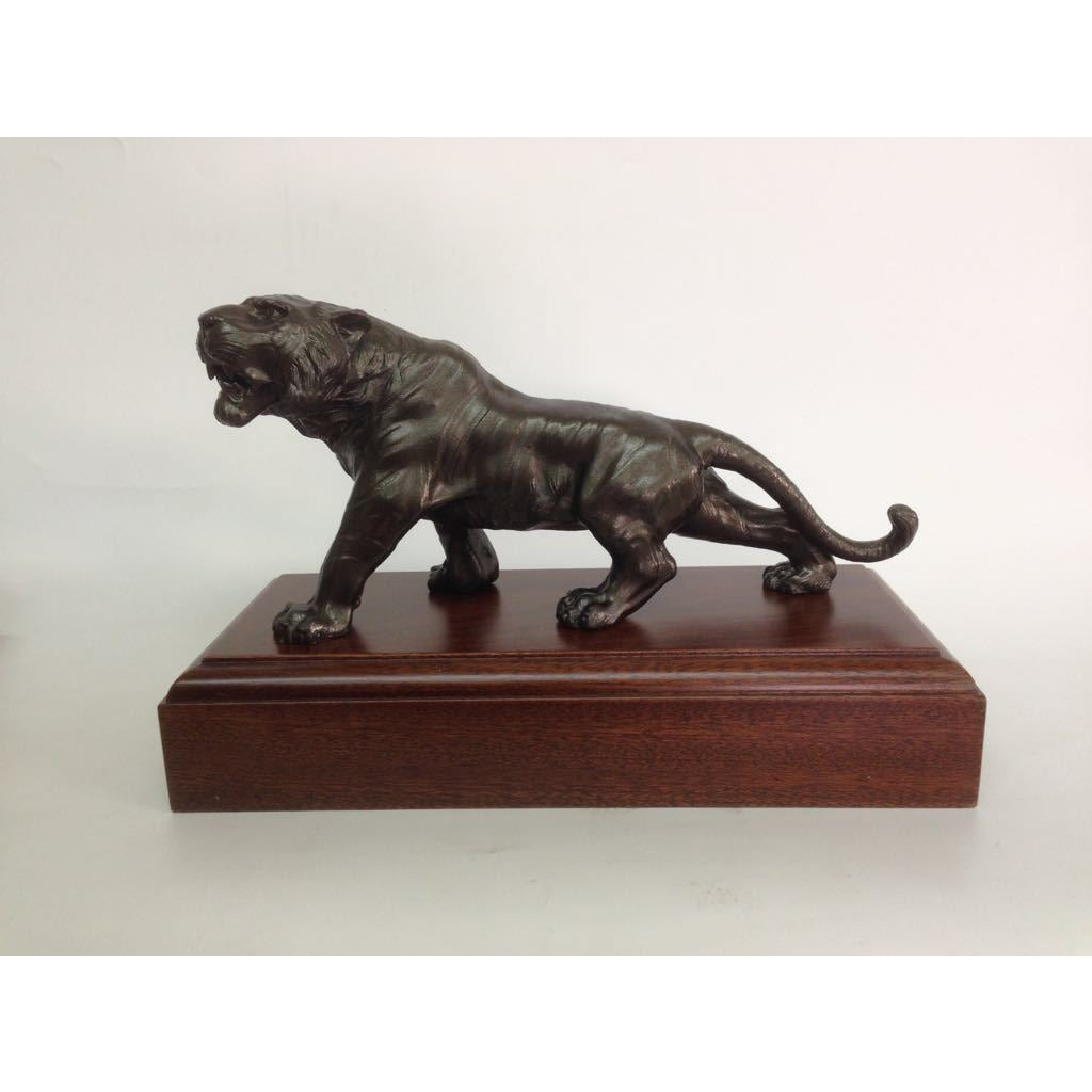 TIGER on Plinth - Bronze 23cm