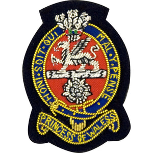 PWRR - Officers' Side hat Badge - Navy Ground