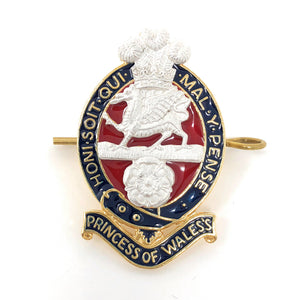 PWRR Officers' - No 1 Dress Cap Badge