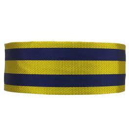 Cummerbund - PWRR - Striped - Silk - Non Crease - One Size - Elasticated
