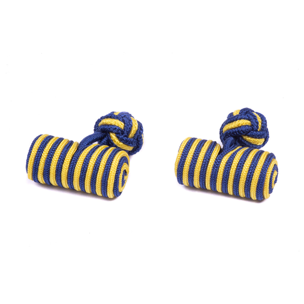 PWRR Tigers Silk Barrel Cufflinks