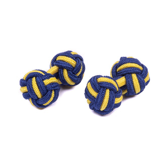 PWRR Tigers Silk Knot Cufflinks