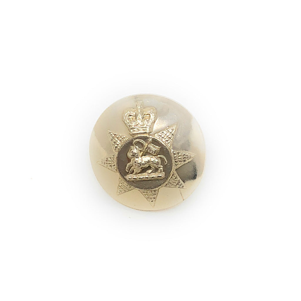 PWRR - Gold Tunic Button (Queen's Regiment Pattern)