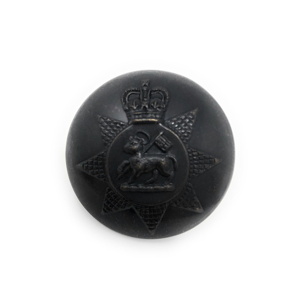 PWRR - Bronze Tunic Button (Queen's Regiment Pattern)