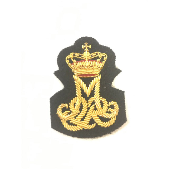 Queen Margrethe II - Royal Cypher Badge - Mess Dress - Bullion Wire on Navy