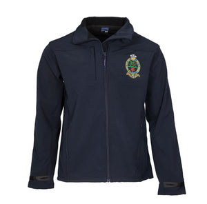 Navy Softshell Jacket - Embroidered Cap Badge