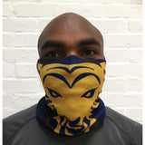 RUFFNEK Blue/Yellow Tiger Scarf - One Size Fits All
