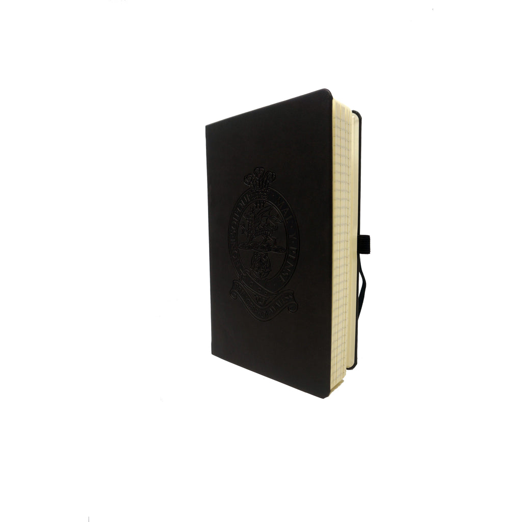 PWRR A5 Black Hardback - Embossed Tuscon Notebook - Lined