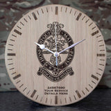 Princess of Wales Royal Regiment Oak Clock