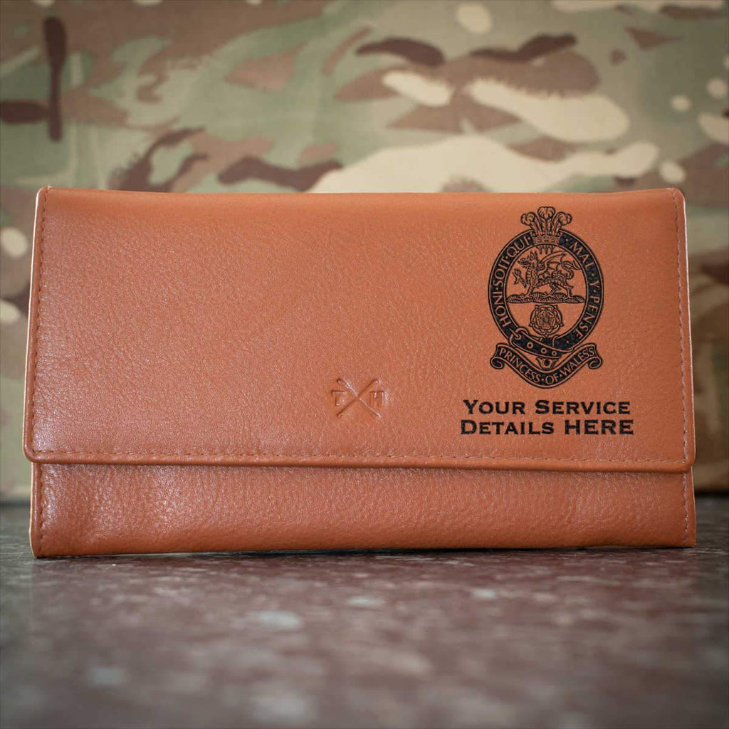 Princess of Wales Royal Regiment Leather Purse